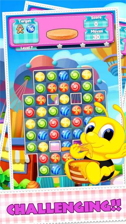 Sweet Yummy And Cookie Dessert Match 3 Puzzle