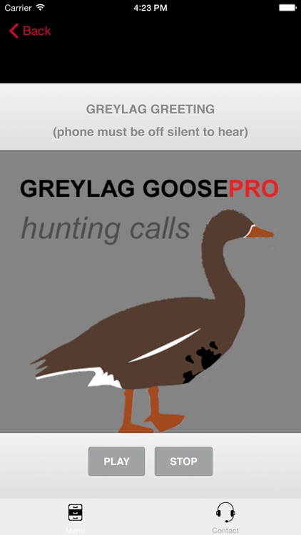 REAL Greylag Goose Hunting Calls & Greylag Goose CALLS & Greylag Goose Sounds! - BLUETOOTH COMPATIBLE screenshot-0