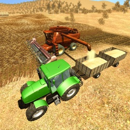 Farm Town Harvesting Tractor Driver