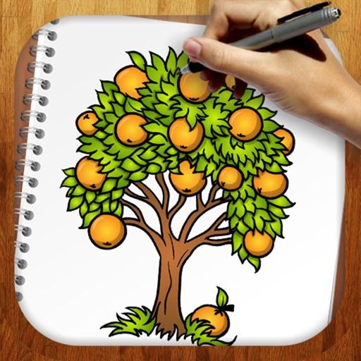Easy Draw Trees And Leaves By Yuriy Rozgonyuk