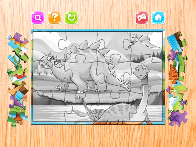 Dinosaur Puzzle Games miễn phí - Dino Jigsaw Puzzles for Kids uống và mầm non Learning Games