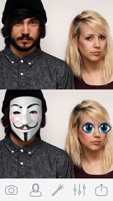 Masquerade Photo Booth - Selfie Camera for MSQRD Instagram ProCamera SimplyHDR Screenshot on iOS