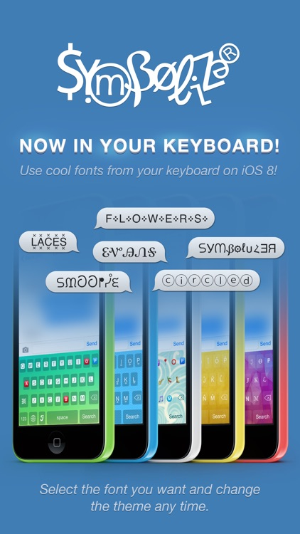 Symbolizer Fonts Keyboard with Fancy Emoji Symbols for Facebook and Instagram screenshot-1