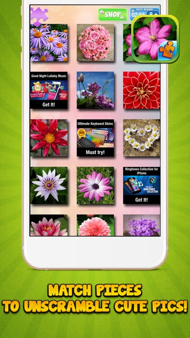 Jigsaw Flower Puzzle – Play Spring Blossom Puzzling Game and Unscramble Floral Pic.s screenshot four