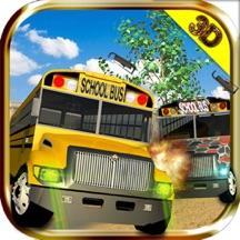 School Bus Driving: A Crazy Driver's Racing Demolition