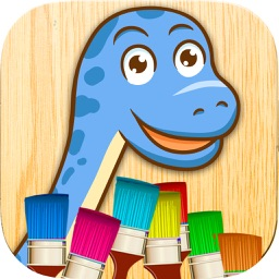 Color dinosaurs - dinosaur coloring  games
