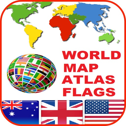World Map Atlas Countries Flags Icons And Wallpaper By Janice Ong