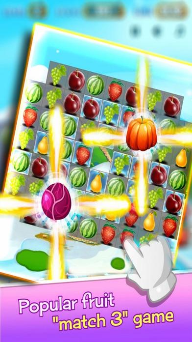 Amazing Fruits: Blue Mania Puzzle Screenshot on iOS
