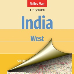 India: West. Tourist map.