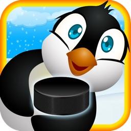 Air Hockey Penguin: Playful Birds on Ice
