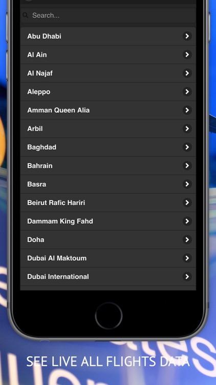 Arab Radar : Emirates, Air Arabia, Qatar, Etihad, Saudi, Royal Jordanian, Kuwait  Airways Live Flight Radar & Status screenshot-3