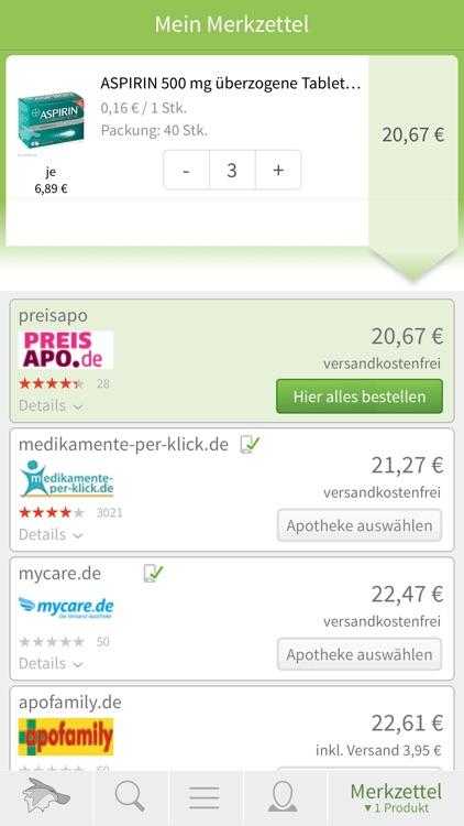 Medizinfuchs Preisvergleich Ap screenshot-3