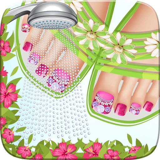 Nail Art Beauty Salon Game: Seaside Feet Salon Girl Game Nail Art Beauty Cute Designs