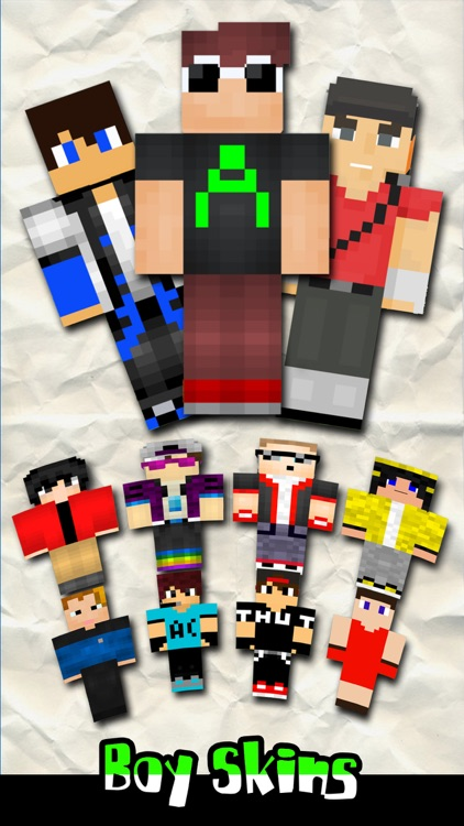 Boy Skin.s Creator for PE - Pixel Texture Simulator & Exporter for Mine.craft Pocket Edition Lite