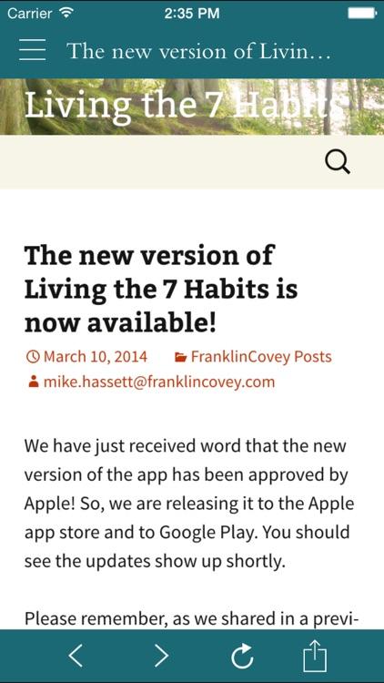 FranklinCovey Living the 7 Habits screenshot-4
