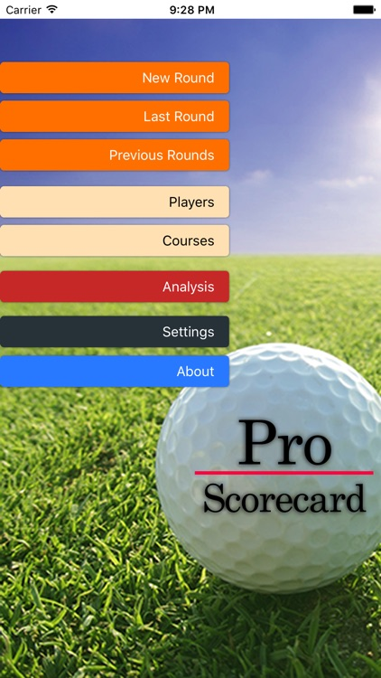 Pro Scorecard