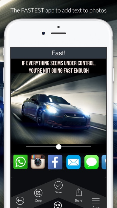 Fast - text on photos screenshot one