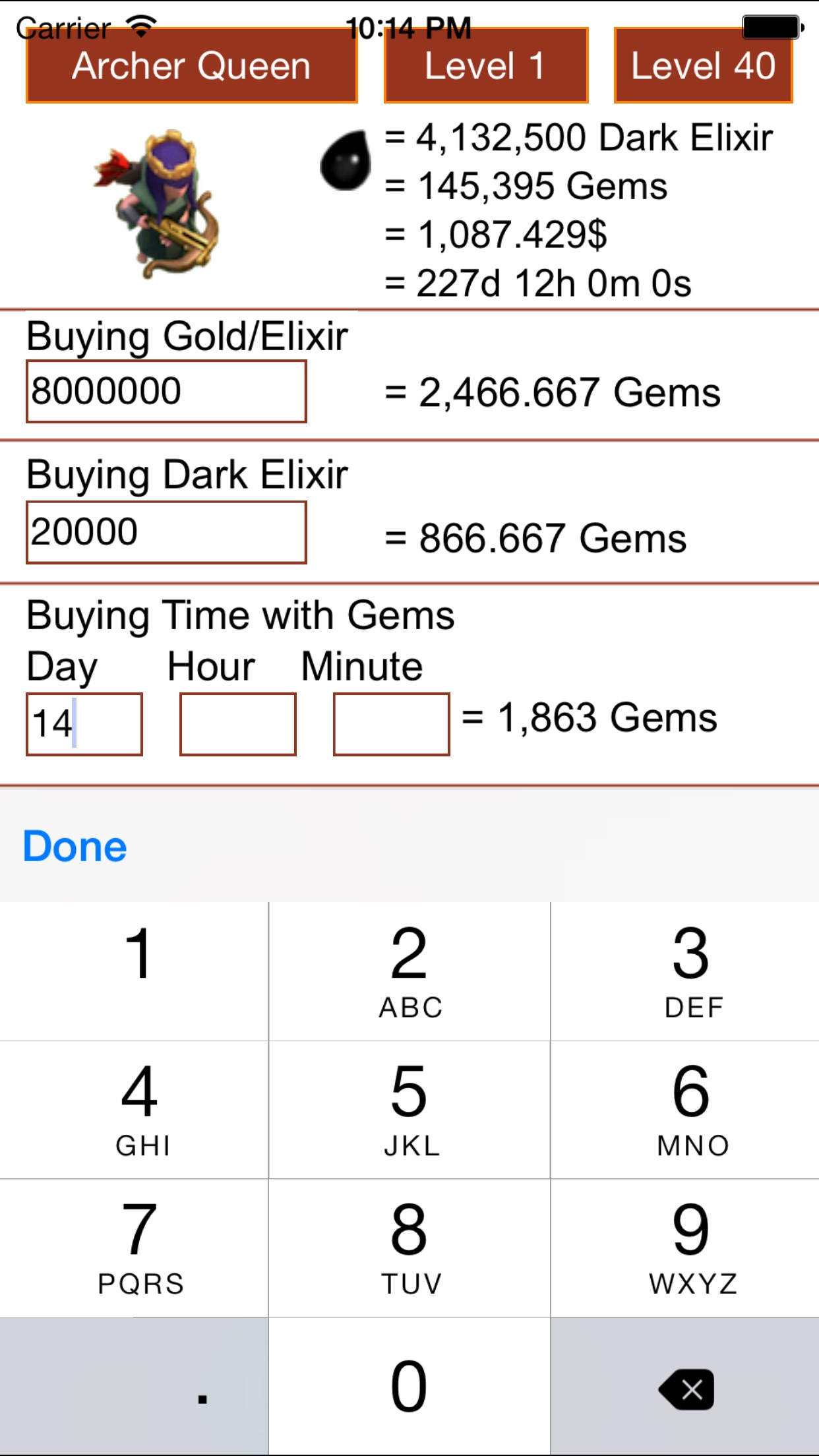 Free Gems Guide Calculator for Clash Of Clans - Coc & Xmod - No Hack Screenshot