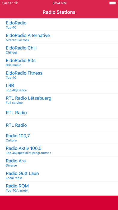 Radio Luxembourg FM - Stream and listen to live online music, news channel and musique show with Luxembourgish streaming station player screenshot one