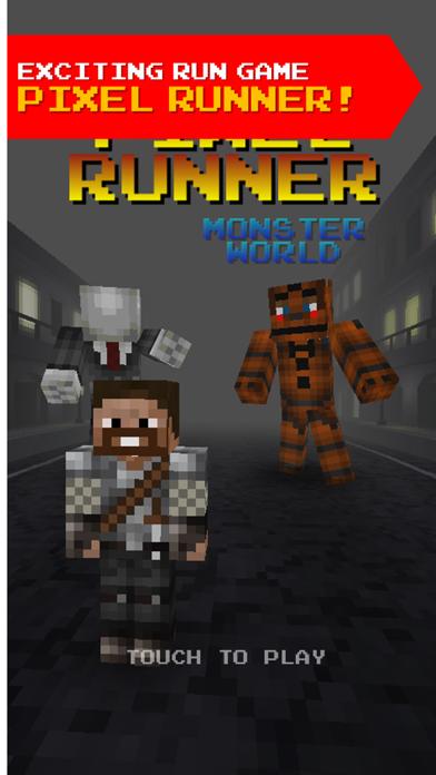 Pixel Runner - 3D Mini Run Game Slenderman edition screenshot one
