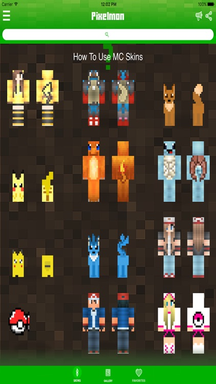 Pokemon Edition Skins for Minecraft PE ( Pocket Edition ) - Best Pixelmon Go Skin !