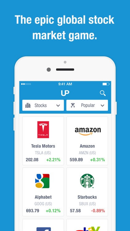 UpTick - the virtual stock market game