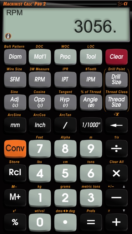 Machinist Calc Pro 2 -- Advanced Machining Math Calculator with Materials Reference Tool screenshot-3