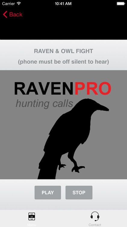 REAL Raven Hunting Calls - 7 REAL Raven CALLS & Raven Sounds! - Raven e-Caller - BLUETOOTH COMPATIBLE screenshot-1