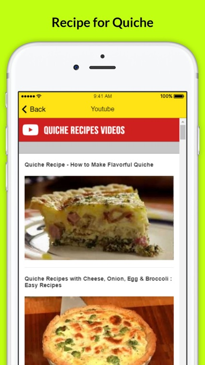 Quiche Recipes - Light & Tasty Recipe screenshot-3