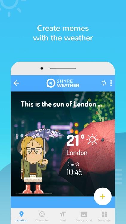 Share Weather - Create Forecast Memes