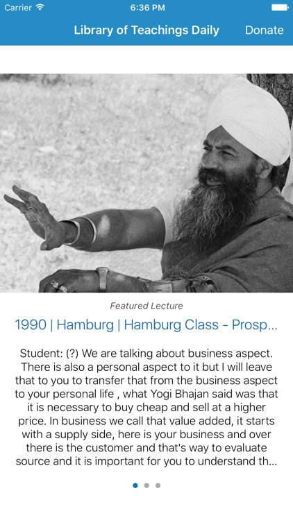 Library of Teachings Daily