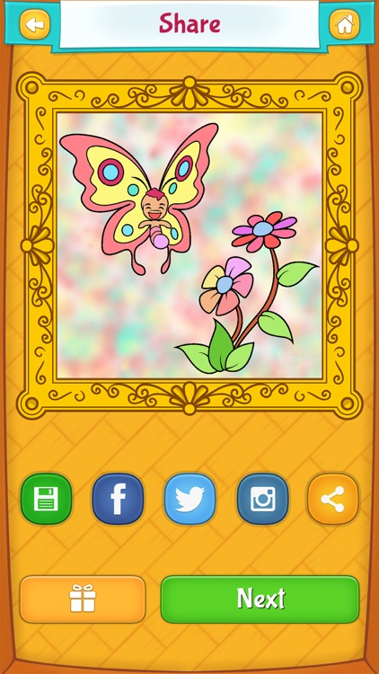 Butterfly Coloring Pages screenshot-3