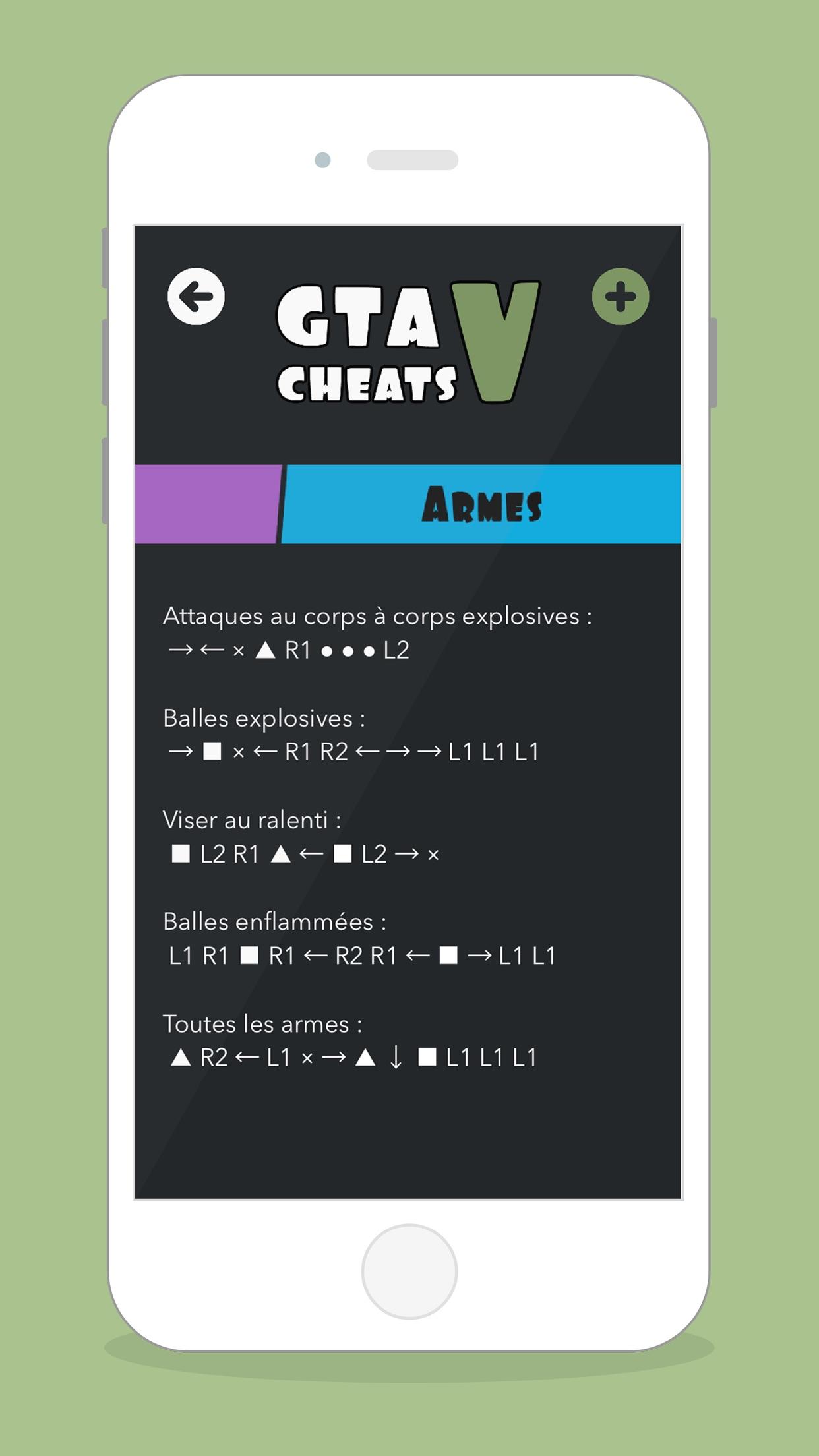 CHEATS for GTA V Screenshot