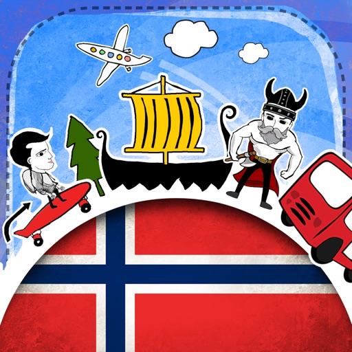 Norwegian Phrasi - Free Offline Phrasebook with Flashcards, Street Art and Voice of Native Speaker