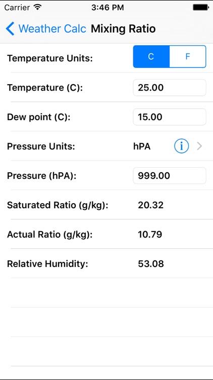 Weather Calc