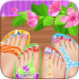Foot nail art beauty salon game cute designs and manicure ideas toe nail spa salon beautiful princess girls prinsesfo Gallery