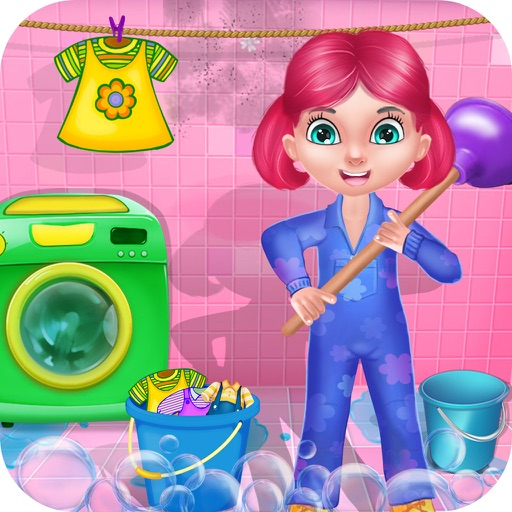 Clean Up - House Cleaning : cleaning games & activities in this game for kids and girls - FREE