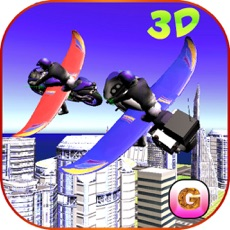 Activities of Flying Bike: Police vs Cops - Police Motorcycle Shooting Thief Chase Free Game
