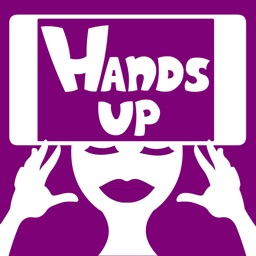 Hands up alias charades and heads up activity game for fun friends company