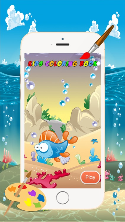 Marine Animals Coloring Book