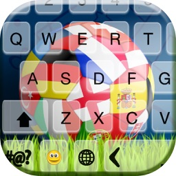 Keyboard Theme for Euro Cup 2016 - Football Keyboards with cool Fonts