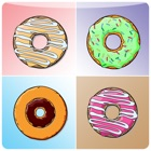 Hot Donut Matching Cards - brain fitness icon