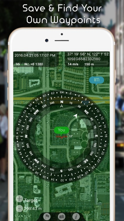 GPS Navigation Heading Compass - (Map with Speedometer, Altimeter & Digital Direction Finder)