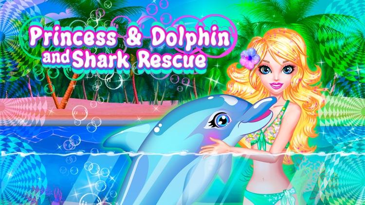 Princess Dolphin and Shark Rescue Free screenshot-0