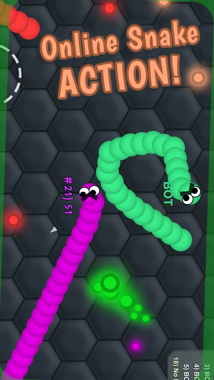 Slimy .IO: Snake Snither MMO -Run, Eat Color Dot