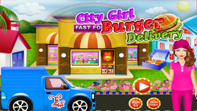 点击获取City Girl Burger Delivery & Maker - Fast Food Fever Cooking Games for Girls & Kids