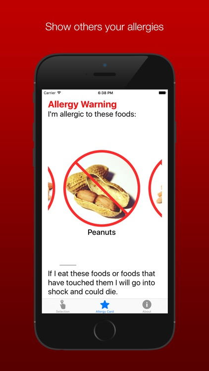 Allergy Translation Card - Available for multiple allergies and languages