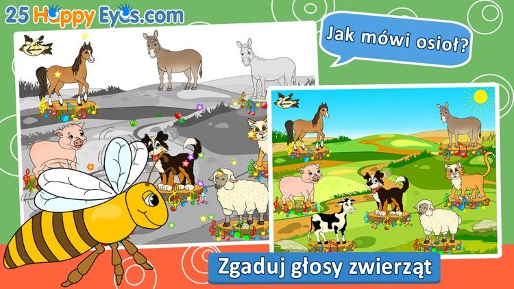 Wesołe zwierzęta - edukacyjne gry układanki,dzieci screenshot-3