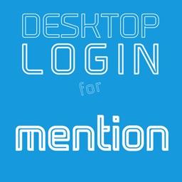 DESKTOP LOGIN for Mention