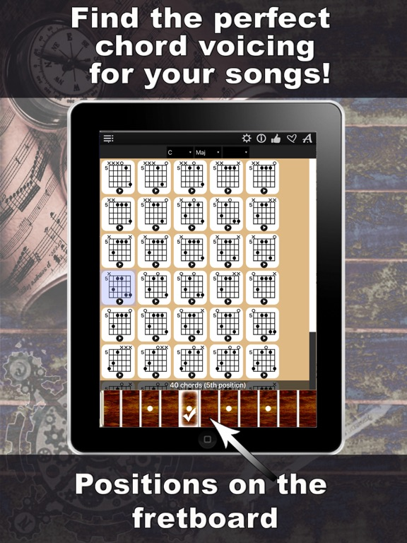 Guitar Chords Compass - learn the chord charts & play them | App ...